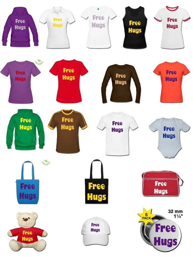 hier geht's zum Free-Hugs-Shop